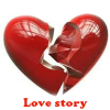 Love story. Spot the Difference