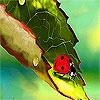 Alone ladybug on the leaf puzzle