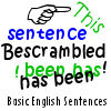 Bescrambled – Basic English Sentences