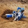Blue Motorcross
