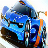 Blue racing car slide puzzle