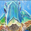 Blue sea turtle  slide puzzle