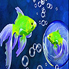 Bubble and fishes slide puzzle