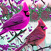 Cardinal birds in woods puzzle