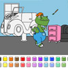 Color Games – Car Garage Dinosaurs
