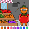 Color Games – Tom T-Rex the Tomato – DinoSawUs