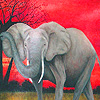 Colorful elephants puzzle