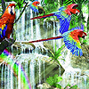 Colorful jungle animals puzzle