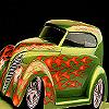 Concept flame car puzzle