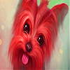 Cute red puppy slide puzzle