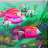 Deep ocean fishes slide puzzle