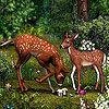 Deers in the garden slide puzzle