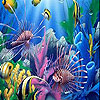 Diverse fishes in the sea slide puzzle