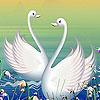 Elegant lake swans puzzle