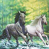 Fabulous running horses puzzle