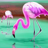 Fantastic flamingos in the lake puzzle