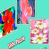 Fantasy colorful flowers puzzle