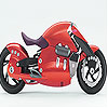 Fast red motorbike slide puzzle