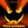 Fiery pumpkin. Find objects