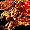Flame eagle slide puzzle