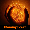 Flaming heart 5 Differences
