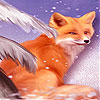Fox in the snow slide puzzle