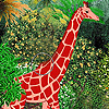 Giraffe in the zoo slide puzzle