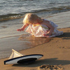 Girl on Beach Jigsaw Puzzle