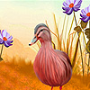 Goose in the flowers puzzle