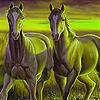 Green horses slide puzzle