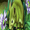 Green mouse in the garden puzzle