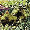 Green wild deer slide puzzle