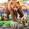 Grizzly bear and cub bears slide puzzle