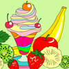 Ice-Cream Sundae Coloring Game