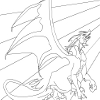 Kid's coloring: Big dragon
