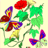 Kid's coloring: Flowers for Butterflies