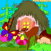 Kid's coloring: Forest House 2
