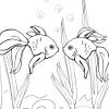 Kid's coloring: Goldfish