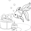 Kid's coloring: Little goldfish