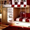 Kids Red Bedroom Hidden Alphabets