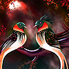 Lovely birds in valentine day slide puzzle