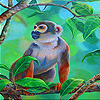 Monkey in the jungle slide puzzle