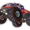 Monster truck 3D stars