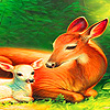 Mother and baby deer puzzle