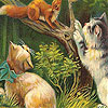 Naughty cats on the tree slide puzzle