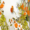 Orange sparrows slide puzzle