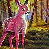Pink deer in the woods slide puzzle