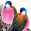 Pink fatter  birds slide puzzle