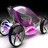 Pink futuristic car puzzle