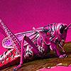Pink grasshopper in garden puzzle